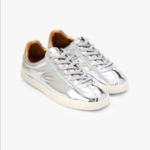 Liquid Silver Sneakers